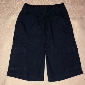 Boys Navy Pull-On Woven Cargo Shorts